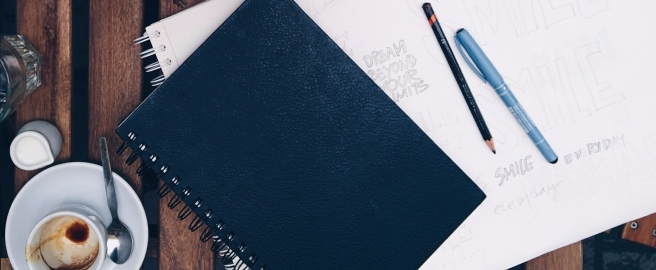 Notebook and pens- schedule